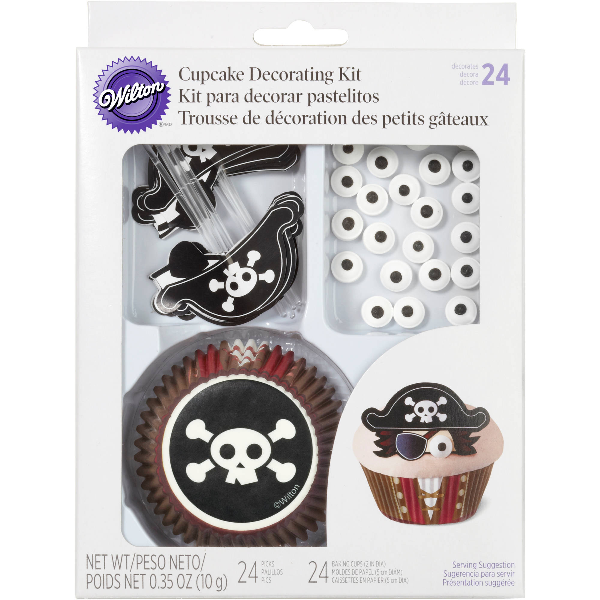 Wilton Cupcake Decorating Kit, Pirate 24 ct. 415-2194