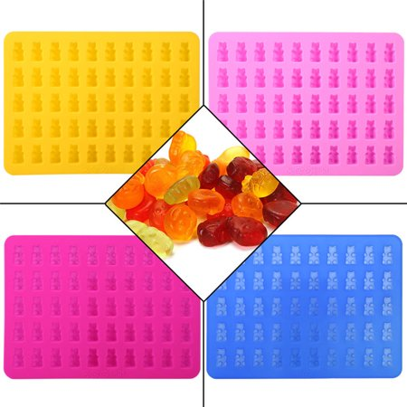 Thomas Candy Cube - TOPINCN 50 Cavities Chocolate Candy &Ice Cube Bear Shape Silicone Mold Make with Dropper