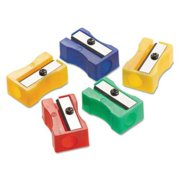 Acme United One-Hole Manual Pencil Sharpeners, Red/Blue/Green/Yellow, 4w x 2d x 1h, 24/Pack ACM15993