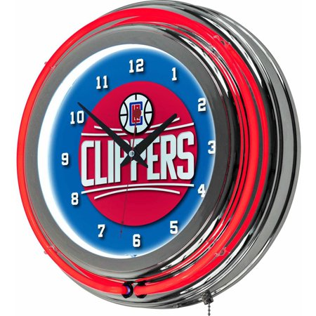 "Los Angeles Clippers NBA 14"" Neon Wall Clock by"