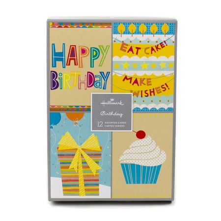 Hallmark Assorted Birthday Greeting Cards (Birthday Icons, 12 Cards and Envelopes)](Company Birthday Cards)