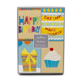 Hallmark Assorted Birthday Greeting Cards Icons 12 And Envelopes