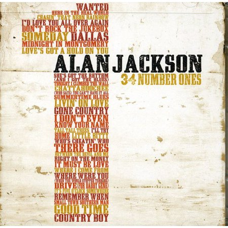Alan Jackson - 34 Number Ones (CD)