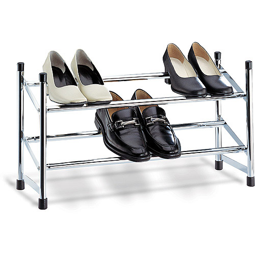 Neu Home Expandable Shoe Rack, Chrome