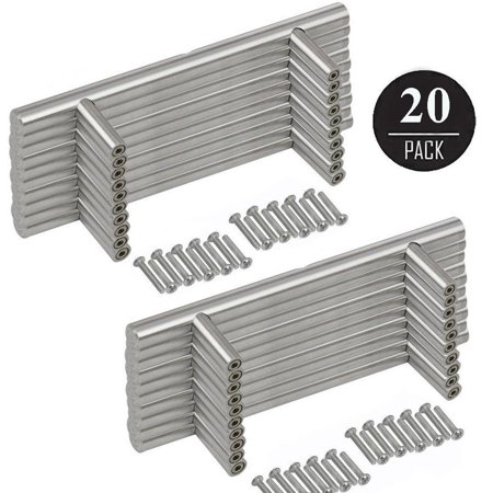 Stainless Steel Satin Astragal (20-pack Solid Stainless Steel Bar Handle Pull, 6