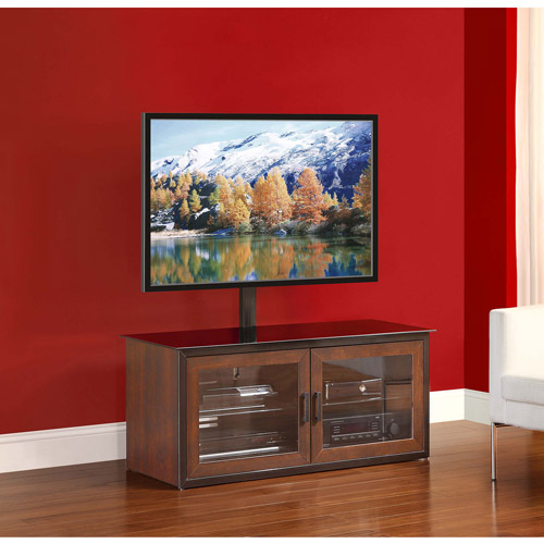 Whalen Brown Closed Door 3-in-1 TV Stand for TVs up to 52""