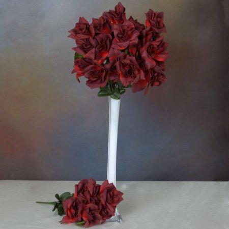 Efavormart 168 Open Velvet Roses for DIY Wedding Bouquets Centerpieces Arrangements Party Home Decorations Wholesale - 16 Colors - Punk Wholesale