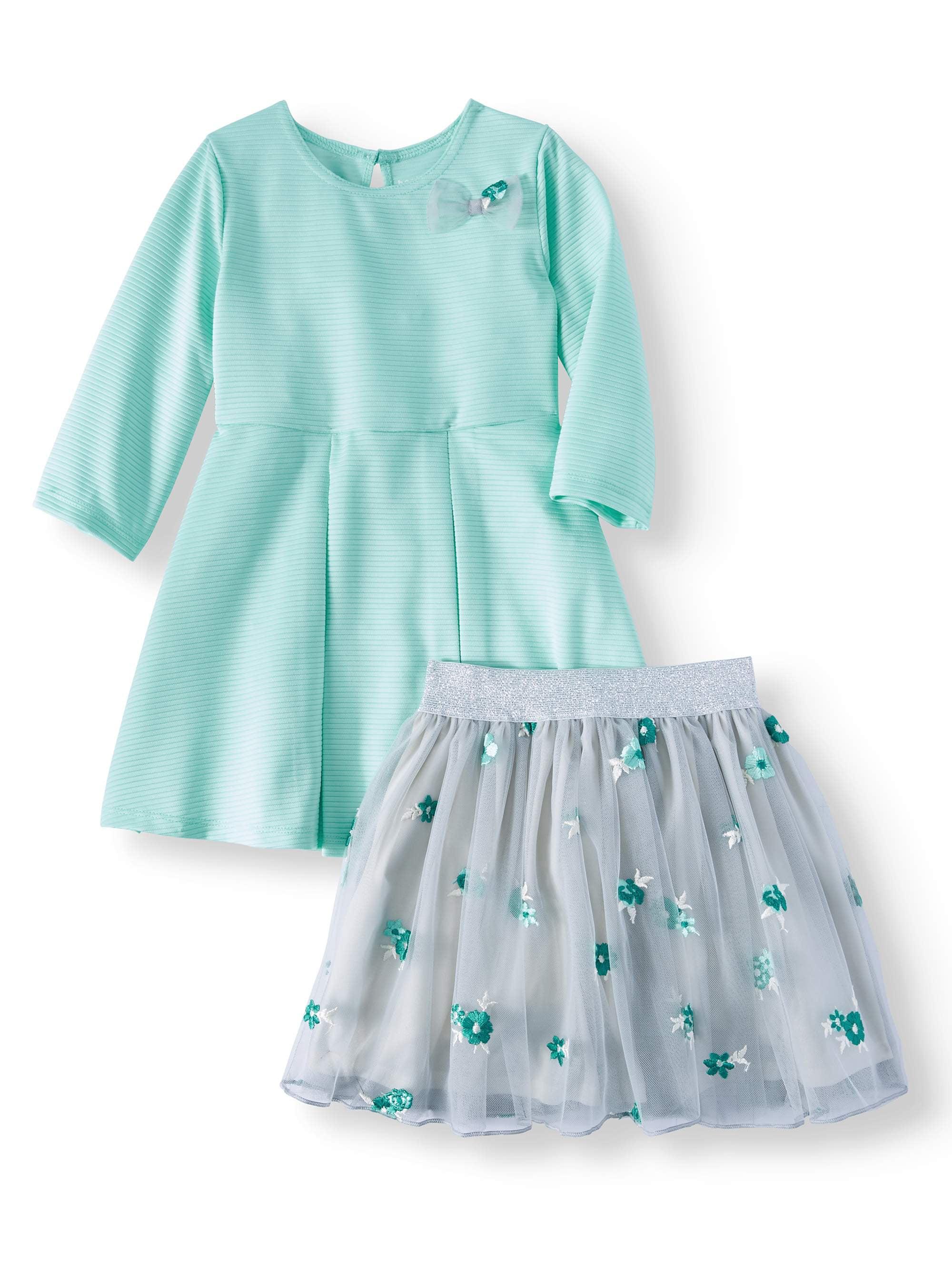 Interchangeable 2-in-1 Tutu Dress, 2-Piece Set (Toddler Girls)