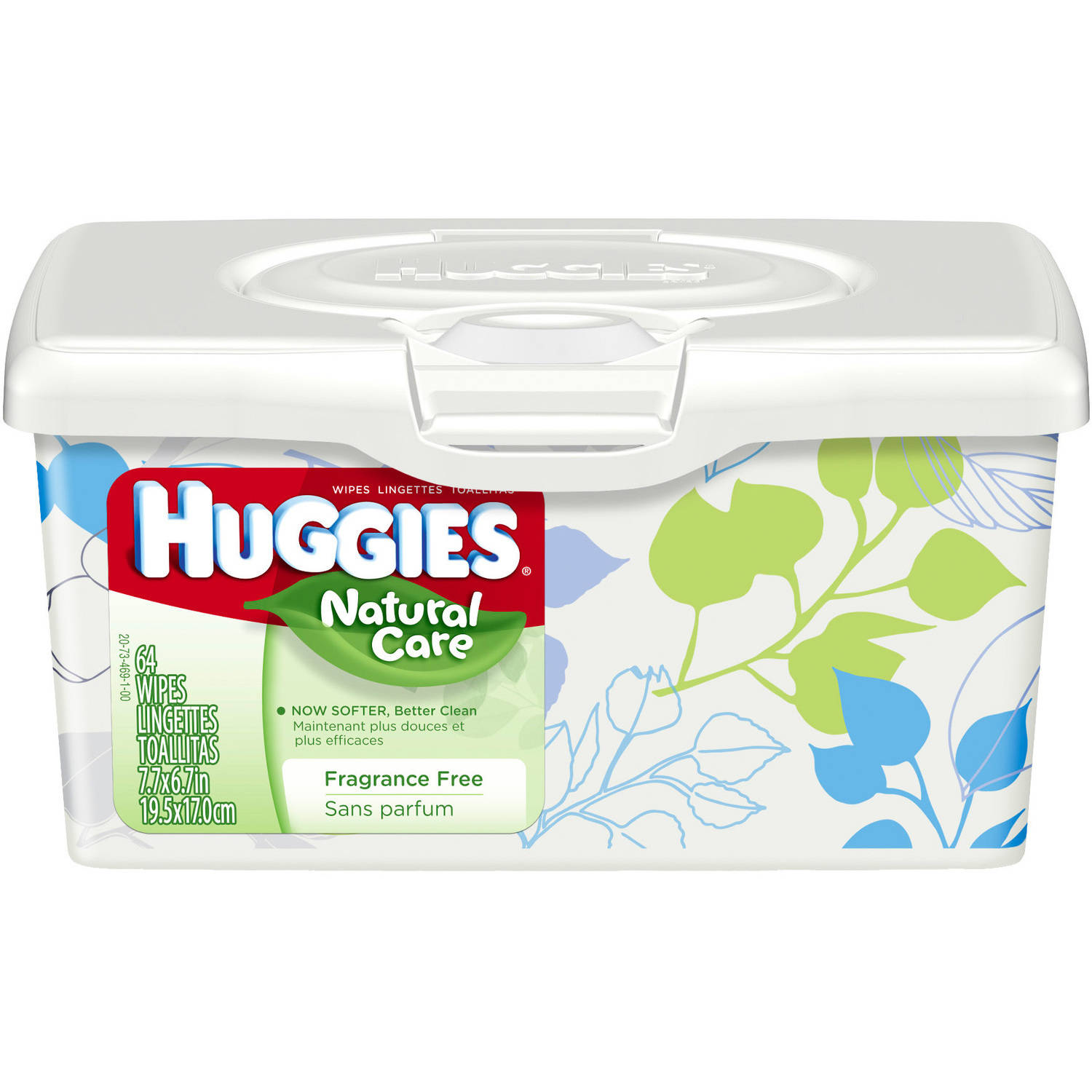 HUGGIES Natural Care Baby Wipes, 64 sheets