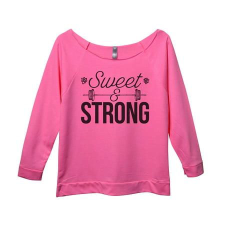 Womens Weight Lifting 3/4 Sleeve Sweatshirt