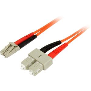 StarTech.com 5m Fiber Optic Cable - Multimode Duplex 62.5/125 - LSZH - LC/SC - OM1 - LC to SC Fiber Patch Cable - LC Male - SC Male - 16.4ft - Orange FIBER PATCH CABLE LC/SC LSZH