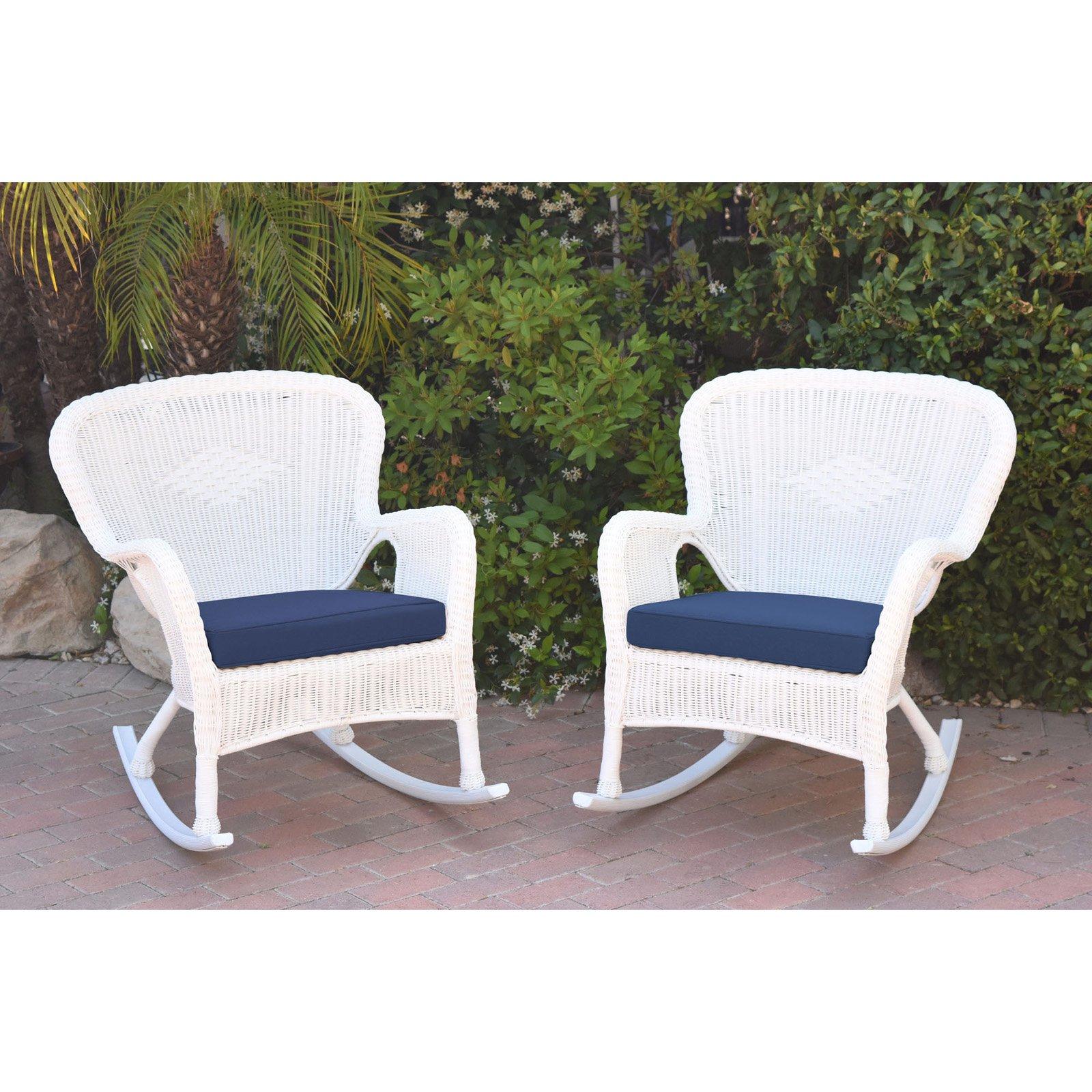 Jeco Windsor Resin Wicker Outdoor Rocking Chair - Set of 2