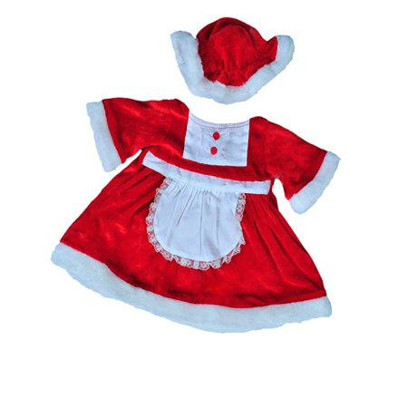 Mrs. Claus Outfit Teddy Bear Outfit Fits Most 14