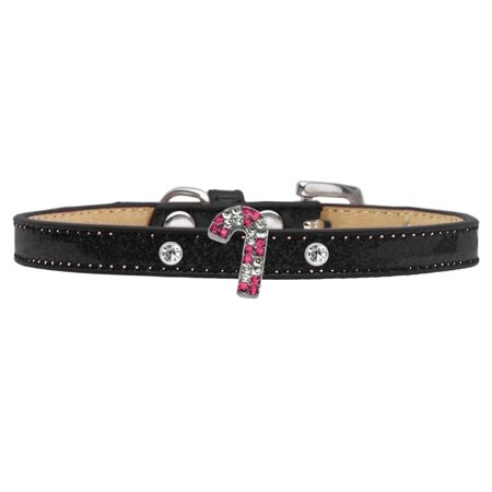 Holiday Charm Dog Collar Black Ice Cream Size 16 Pink Candy Cane