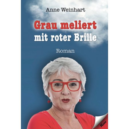 Grau meliert mit roter Brille - eBook (Ie Brille)