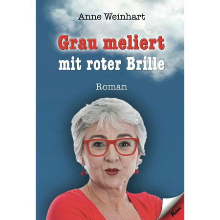 Grau meliert mit roter Brille - eBook (Cartoon-mann Mit Brille)