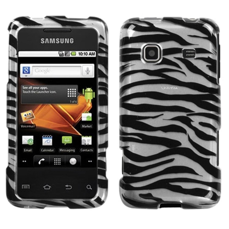 Insten Zebra Skin (2D Silver) Phone Case for SAMSUNG: M820 (Galaxy Prevail)