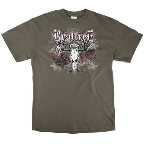 Charcoal Tee, Licensed Realtree Affliction Design