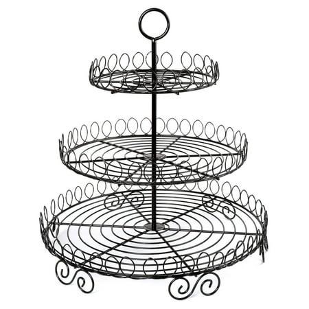 Creative Home Iron Works 3-Tier Cup Cake Rack ()