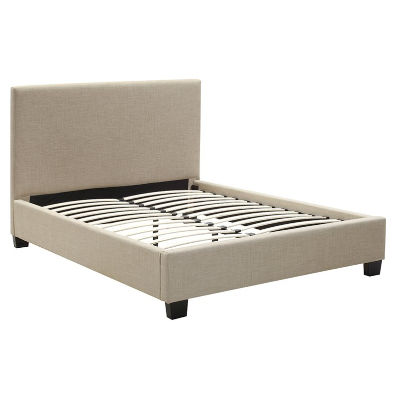 Modus Geneva Upholstered Full Platform Bed in Toast by