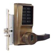KABA SIMPLEX L8146B-05-41 Push Button Lockset,8000,Antique Brass