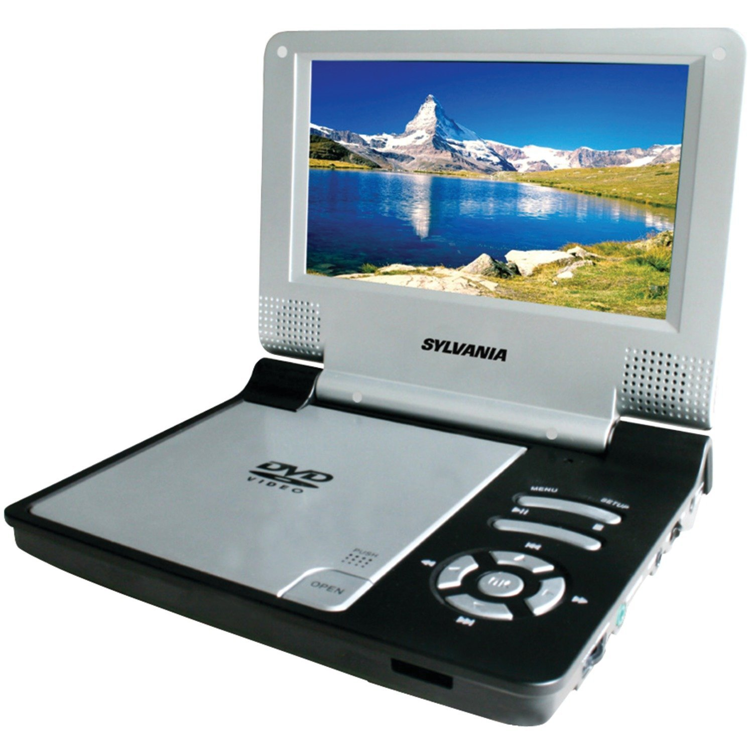 "Sylvania SDVD7014 Portable DVD Player - 7"" Display - Black (sdvd7014black)"