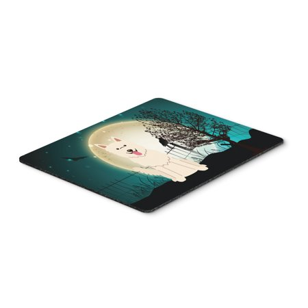 Halloween Scary White German Shepherd Mouse Pad, Hot Pad or Trivet BB2235MP](F-14 Halloween)