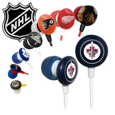 Officially Licensed iHip NHL Noise-Isolating Earphones