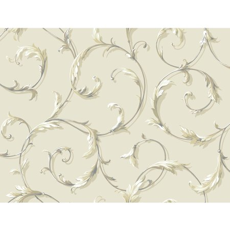 Black & White Acanthus Scroll - Black And White Halloween Wallpaper