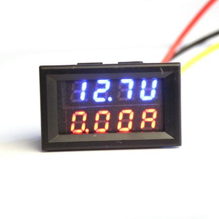 Dual LED DC Digital Ammeter Voltmeter LCD Panel Amp Volt Meter 10A