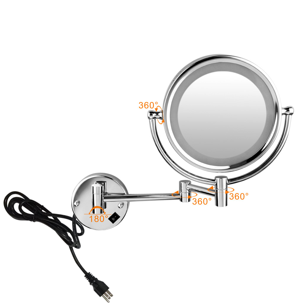 Excelvan wall mounted led double side swivel lighted wall mount excelvan wall mounted led double side swivel lighted wall mount makeup mirror 8 inch 10x magnification mirror walmart aloadofball Choice Image