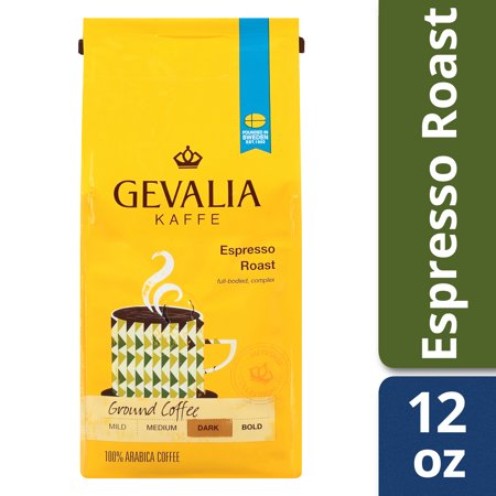Gevalia Espresso Roast Ground Coffee, Caffeinated, 12 oz