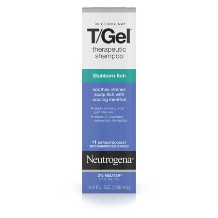 Gel Therapeutic Shampoo (Neutrogena T/Gel Stubborn Itch Therapeutic Dandruff Shampoo, 4.4 fl. oz)