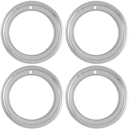 C3 Corvette 1968-1982 14x7 Chrome Plated Stainless Steel Wheel Trim Rings - Deep Dish Deep Dish Bullitt Wheel