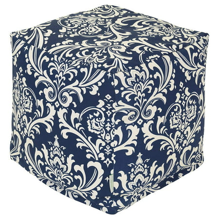 Majestic Home Goods French Quarter Indoor/Outdoor Ottoman Pouf -
