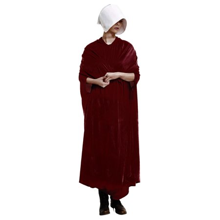 Handmaid's Tale Adult Costume Velour Robe and Hat | Dresses for - Cat In The Hat Costume Women