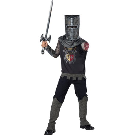 Boys Black Knight Zombie Medieval Costume - Zombie Halloween Makeup Boy