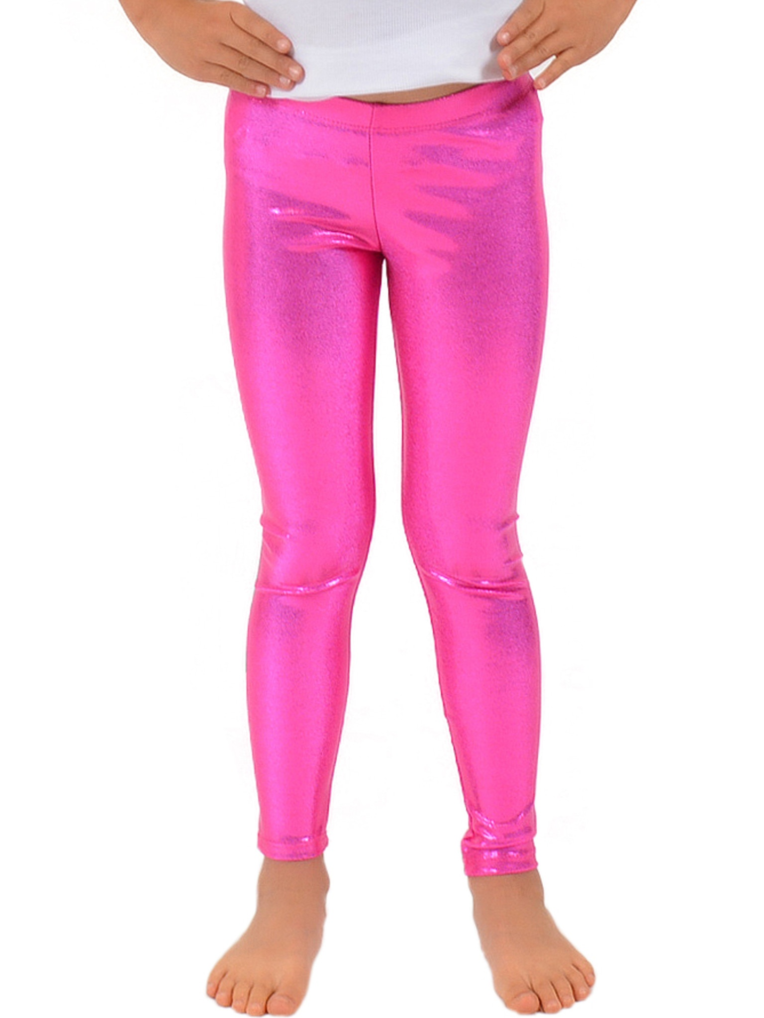 Girl's Metallic Mystique Leggings - Small (6) / Mystique Purple
