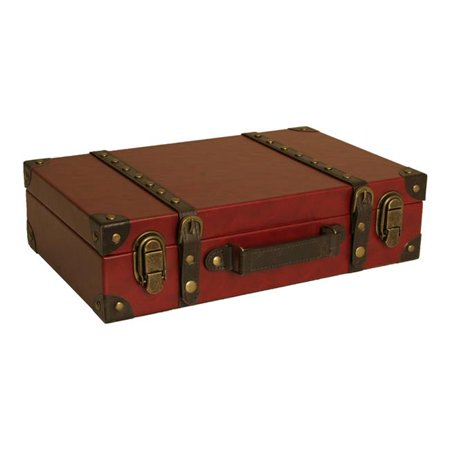 Wald Import Faux Leather Suitcase