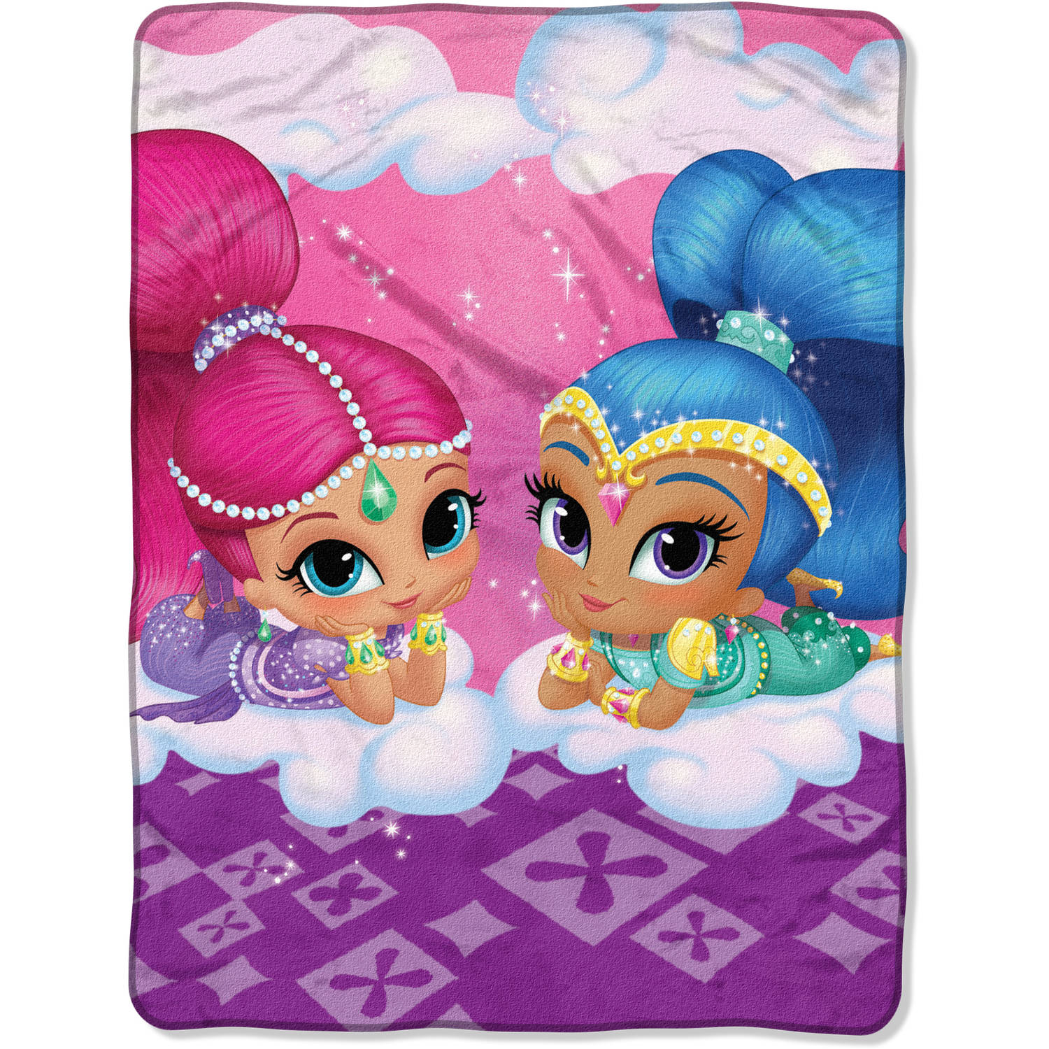 "Nickelodeon's Shimmer and Shine Cloud Crusin 46"" x 60"" Micro Raschel Throw"