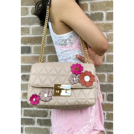 Michael Kors - Michael Kors Large Sloan Floral Applique Quilted Leather  Shoulder Bag - Walmart.com 98132bb655516