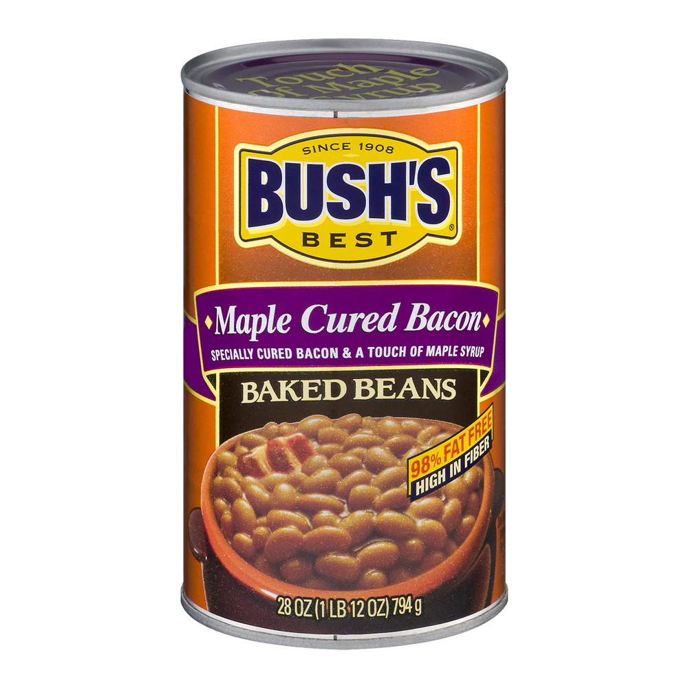 BUSH'S BEST Maple Cured Bacan Baked Beans, 28.0 OZ by Bush Brothers & Company