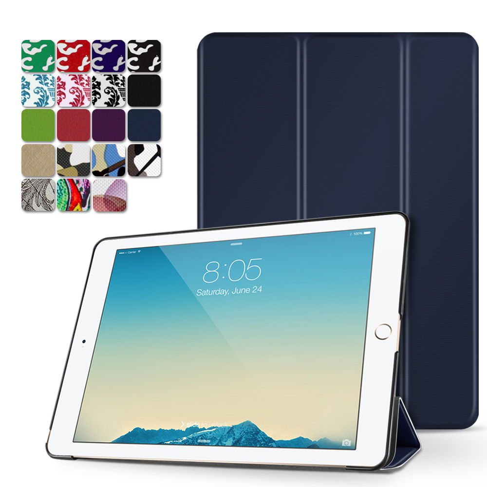 "iPad Pro 9.7 Case - Slim Lightweight Shell Smart Cover Stand, Hard Back Protection with Auto Sleep Wake for Apple iPad Pro 9.7"" Inch 2016 Release (Dark Blue)"