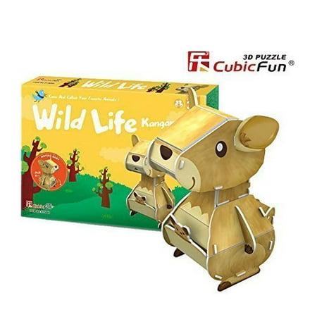Cubic Fun Wild Life - Kangaroo K1504h, Children's Educational Brain Teasers  3D jigsaw Puzzle