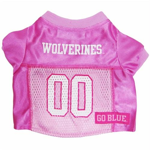 Michigan Wolverines Pink Dog Jersey