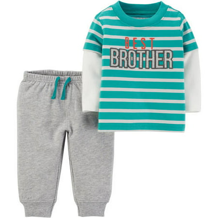 97b58fef0 Child of Mine by Carter's - Child of Mine by Carter's Baby Toddler Boy  Microfleece Shirt and Pant 2 Piece Set - Walmart.com
