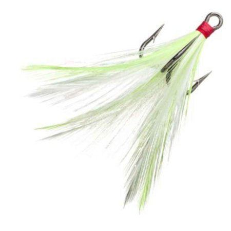 - Lazer Sharp 4 Eagle Claw Dressed Trebles44; Chartreuse White LDT4CHW