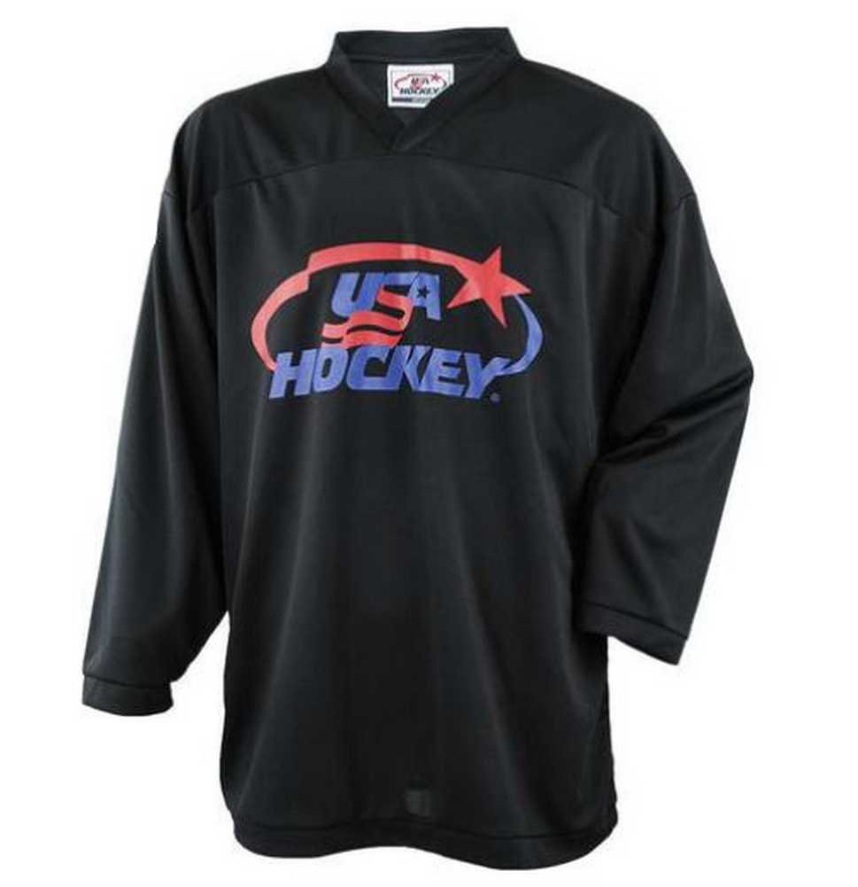 USA Hockey Adult Practice Ice Hockey Jersey Mid-Weight Black, Navy, Red or White