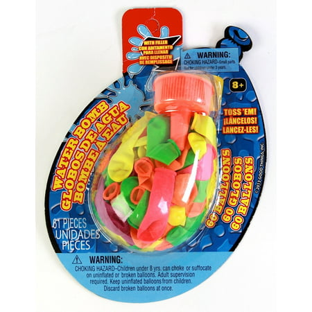 Party Supplies - Pioneer Water Bombs w/Filler Balloons 25 ct Pool Toys 72313](Balloon Bombs)