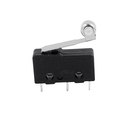 5Pcs AC250/125V 5A 3P Momentary 18mm Lever Arm Micro Switch Black KW12-2 - image 1 of 2